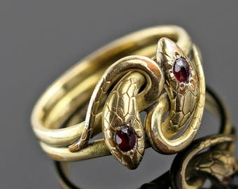 Victorian Snake Ring - Gold Filled