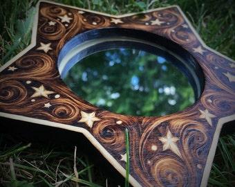Petitie Magic Mirror - Pyrography on Birch