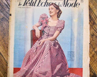 Vintage french magazine, le Petit Echo de la Mode, June 25 1939