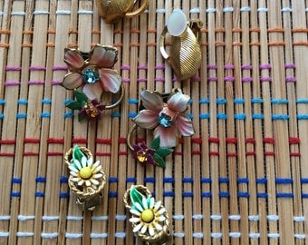 Pretty Lot of Vintage Earrings