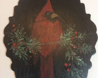 Tole painting Christmas Cardinal