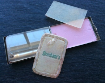 Art Deco compact Beecham's original powder lipstick blush