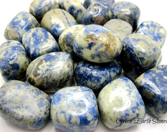 Sodalite Smooth Tumbled Stone, Chunky One, Crystal Healing, Feng Shui, Rock Hound, Blue, Wicca, Reiki, Energy Stones