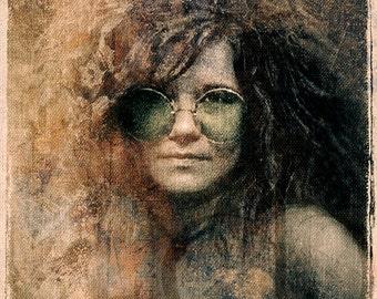 Janis Joplin - Limited Edition Giglee Print 16 x 20