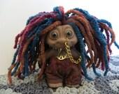 Vintage Rare RASTA San Diego Troll Co All Original Peace Dreadlocks Piercings Trolls