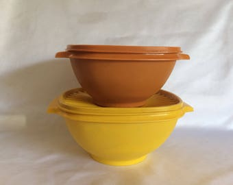 2 Vintage Tupperware Servalier Bowls