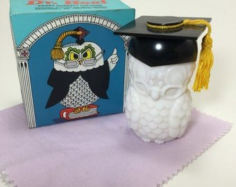 Vintage Avon Dr. Hoot Sweet Honesty Cologne and Decanter with Original Box