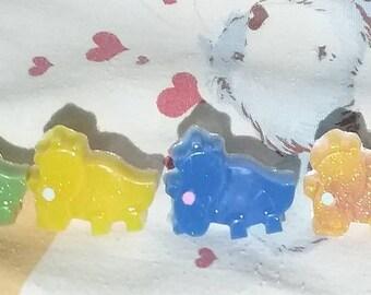 Creepy Cute Pastel Goth Dinosaur Triceratops Rings