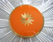 Stratton Powder Compact, Vintage Compact, Vanity Mirror, 1960s Cosmetics, Orange Compact, Gift For Woman, Gift For Girlfriend, Collectibles