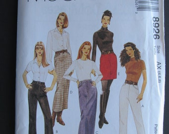 McCalls 8926/Uncut Sewing Pattern/Misses Pants & Skirt in 3 Lengths/Size 8-10-12/1997