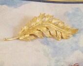 Vintage 1960s Leaf Brooch by Coro