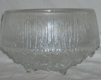 "iittala Glass Tapio Wirkkala Ultima Thule 3 Toed Footed 6"" Bowl"
