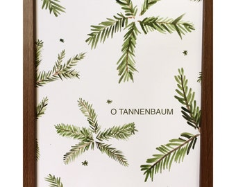O Tannenbaum watercolor print