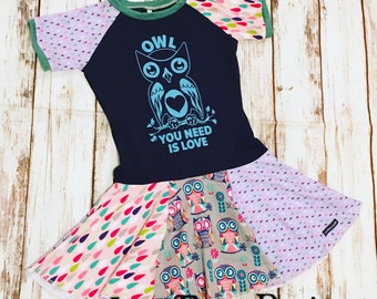 Owl You Need is Love - Upcycled Knit Dress