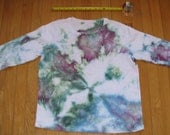 UPCYCLED Tiedye Women's Size 1XL T-Shirt Green Pink Burgundy Blue White