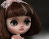 Maddie - ooak Middie Blythe doll custom - melo melo mew with alpaca reroot - unique art doll by Karolin Felix