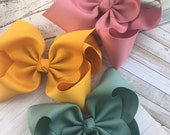 "Pick 3 -- Our Biggest Hair Bow - Ultimate Supreme 3"" Ribbon Texas Size - m2m Matilda Jane Once Upon a Time Chapter 1 and 2 Fall Colors BIG"