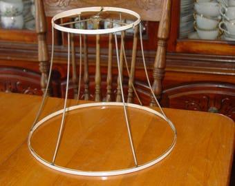 """Lamp Shade Frame for DIY 10""""(25.5cm) tall, 12""""(30cm) across bottom, 6.25""""(16cm)"""