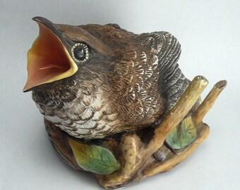 Vintage Boehm Bird Figure Fledgling Cuckoo Figurine Bone Porcelain England