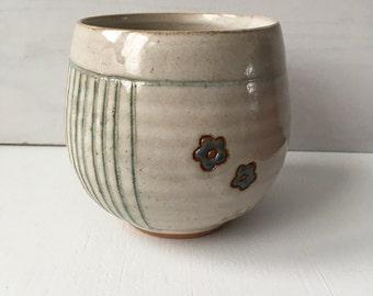 wheel thrown handmade pottery cup