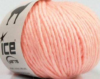 Peru Alpaca Bulky Yarn - Light Pink #48705 Ice 50g Merino Wool Alpaca Acrylic