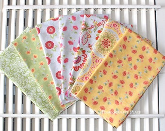 SALE!!!  High Street..Lily Ashbury..Moda fabrics.. 7 Fat Quarters  yellow, orange, grey, green