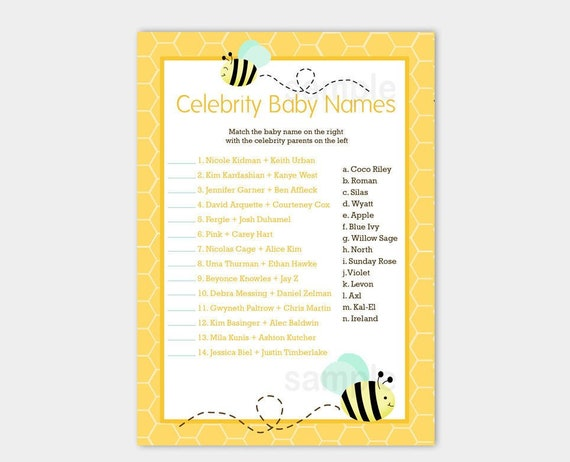Bee baby shower | Etsy
