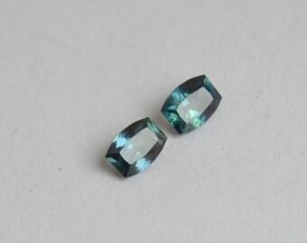 Sapphire Madagascar, Cushion Sapphire, Blue sapphire, Teal Sapphire, Untreated Sapphire, Sapphire Pair, Sapphires for Earrings, Sapphir