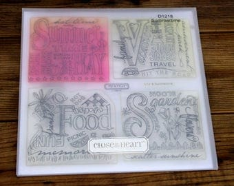 Close to My Heart Acrylic Stamp Set Summertime, D1218