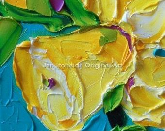 Daffodil Painting, Oil paintings , Original oil painting , fine art,