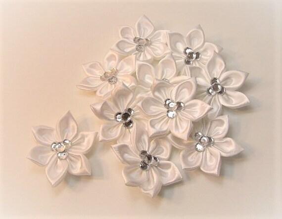 Custom  Hand Made Flowers-(Set of 10 satin flowers)