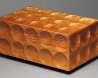 Contemporary Jewelry Box with Two Removable Trays for Watches, Rings, Earrings, etc., 'The Matrix Box'