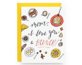 Mom Brunch - letterpress card