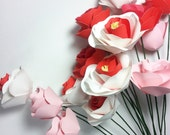 paper flower bouquet, wedding flowers, mothers day gift, paper flowers,