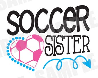 SVG DXF Commercial/Personal Use Soccer Sister Silhouette Cameo Cut File