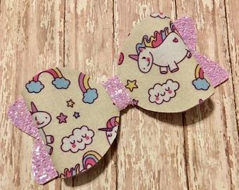 Unicorn hair bow/headband/hair clip/glitter bow