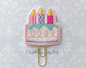 Birthday Cake Planner Clip, Celebration Paper Clip, Planner Paper Clip, Accessory For Planners, Teacher's Gifts, Birthday Reminder