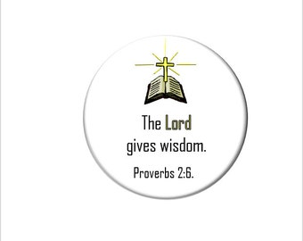 Proverbs 2:6 Christian Bible Verse  Refrigerator Magnet Scripture Fridge Magnet the Lord Gives Wisdom