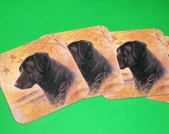 Labrador Retriever Hunting Dog Coasters Cabin Man Cave