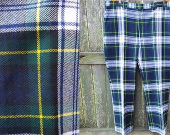 Sale 30% OFF Mens 70s Plaid Pants / Vintage Pants / 70s Costume / 70s Pants / Vintage Costume Waist 41.5