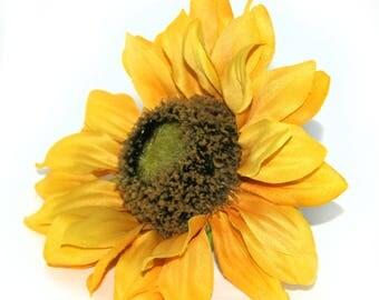 Large Yellow Sunflower - Artificial Flowers, Silk Flower Heads