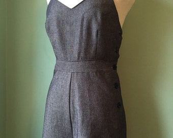 1940s 40s vintage style denim overalls   SALE! B34-35 W27-28 H38 sample sale
