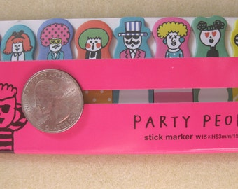 Party people sticky note for planner scrapbooking card making paper memo kawaii ship from USA