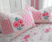 SWEETEST Vintage Chenille Patchwork Quilt Style Pillow Sham Set Of Two