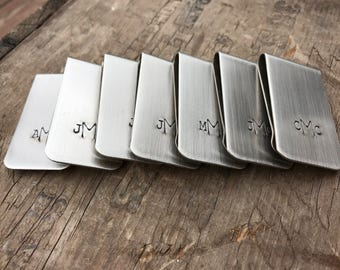 20 Money Clips Groomsmen Gifts Money Clips Personalized Men's Moneyclips SET of twenty Wedding Groomsmen Gifts Ushers Groomsman
