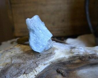 March Madness Sale! The Iceberg Aquamarine Ring. Large arctic blue Rough Aquamarine specimen  ring- Stone Temples© Collection