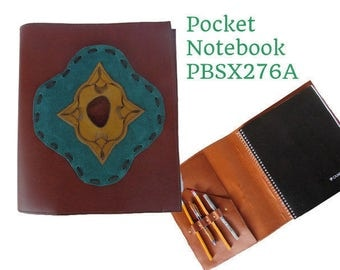 Notebook Cover A5, Leather, Notebook Handmade, Refillable