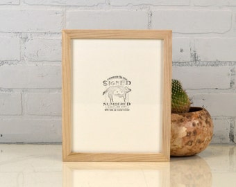 Natural Poplar 8x10 Picture Frame in Peewee Style - IN STOCK - Same Day Shipping - Solid Hardwood Poplar Frame 8 x 10