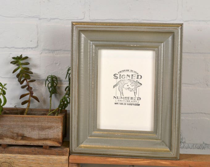 "5x7"" Picture Frame in Scully Style with Vintage Silver Finish - IN STOCK - Same Day Shipping - 5 x 7 Photo Frame Metallic Decorative"