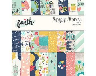"Faith Simple Stories Double-Sided Paper Pad 6""X8"" 24/Pkg Simple Stories (7714)"